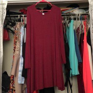Basic long Sleeve T-shirt dress